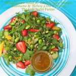 Mixed Green Salad w/ Strawberries, Mango, Edamame & Honey-Lime Dressing