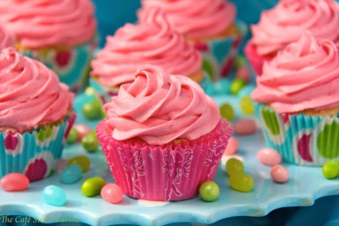 Vanilla Bean Cupcakes with Strawberry Icing - absolutely delicious and perfect for your next special event -  Valentines' Day, birthdays, any days!