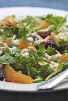 Roasted Beet, Orange & Arugula Salad w/ Honey-Orange Vinaigrette