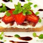 Strawberry & Goat Cheese Bruschetta