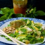 Thai Noodle Salad w/ Coconut Milk-Poached Chicken, Avocado, Bok Choy & Honey-Ginger Dressing