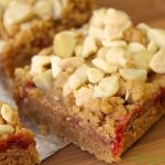 Peanut Butter and Jelly Bars with Macadamia and White Chocolate