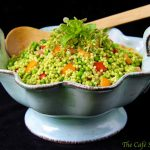 Israeli Couscous Salad with Tomatoes and Herb Pesto