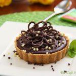 A Guest Post – Peanut Butter Tart w/ Shortbread Crust and Chocolate Ganache Glaze