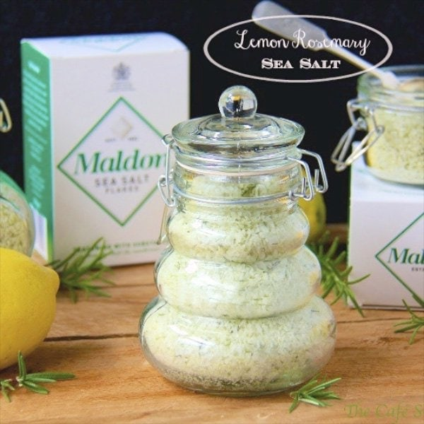 This Lemon Rosemary Sea Salt adds delicious flavor to anything it touches! It's simple to make (only four ingredients) and makes a lovely gift to boot!
