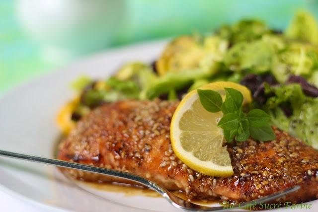 Super Simple, Dinner on the Run! Brown Sugar-Seared Salmon