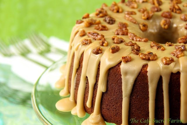 Pumpkin Buttermilk Pound Cake with Caramel Icing - easy to put together and incredibly delicious. A perfect way to celebrate the season!