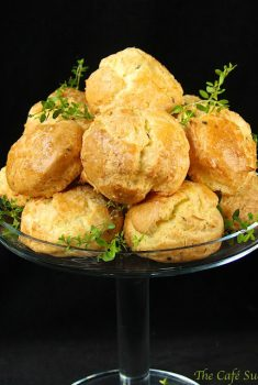 "Fresh Rosemary & Thyme Gougeres and the ""French"" Giveaway………."