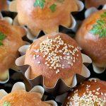 Decoupaged Sesame Seed Brioche Rolls