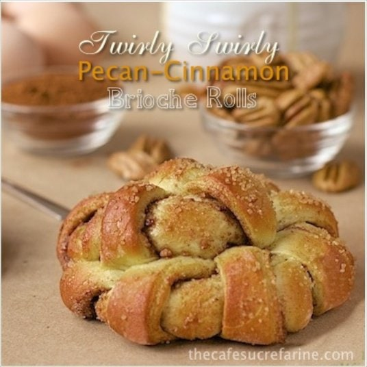 Pecan Cinnamon Brioche Rolls - a delicious, gorgeous twist (literally!) on cinnamon rolls, complete with a tutorial to help you wow your guests at your next brunch!