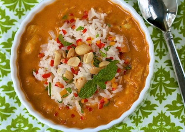 African Peanut Soup with Roasted Chicken is a unique, full-of-flavor ...