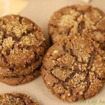 Crinkly Crackly Toasted Pecan Ginger Cookies