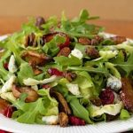 Roasted Pear Salad with Champagne Honey Vinaigrette Dressing - a delicious, combination of flavors with the delightful flavor of roasted pears.