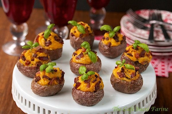 Stuffed Mini Spuds with Butternut Squash and Bacon