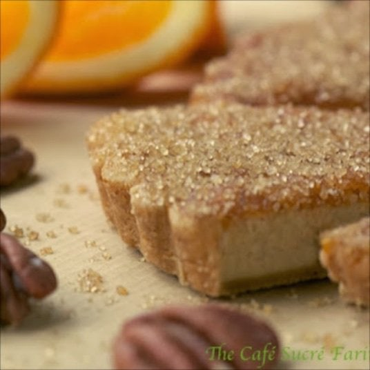 Orange Pecan Shortbread Cookies - the classic taste of Scottish shortbread taken up a notch by adding the bright flavor of oranges and the delicious crunch of  toasted pecans.
