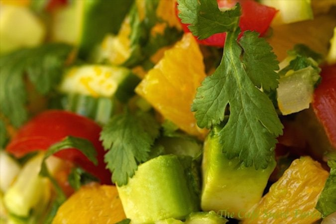 Orange and Avocado Salsa - just the thing for those surprise visitors, game day snacks, or just about any time you're in the mood for fresh!
