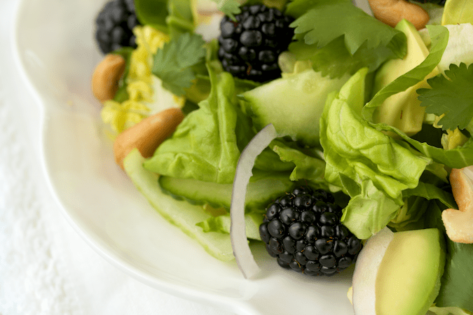Baby Bok Choy & Blackberry Salad (2)