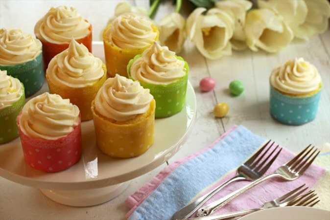 Join us as we greet our friend Tricia, from Saving Room for Dessert food blog. She's our guest blogger and Limoncello Cupcakes are on the dessert menu today