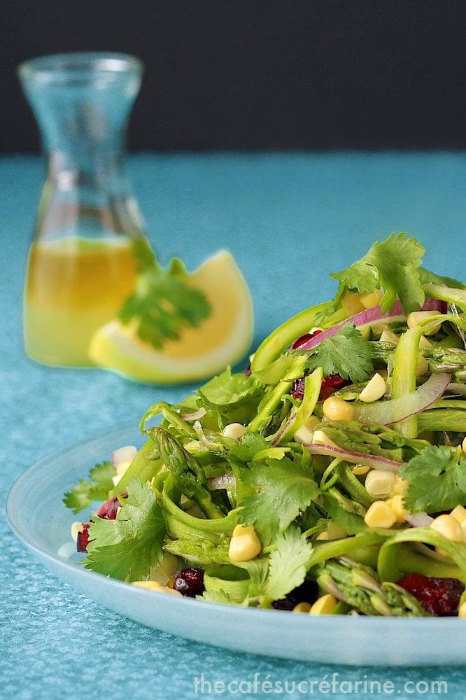 Asparagus & Sweet Corn Salad w- Fresh Lemon Dressing (1)