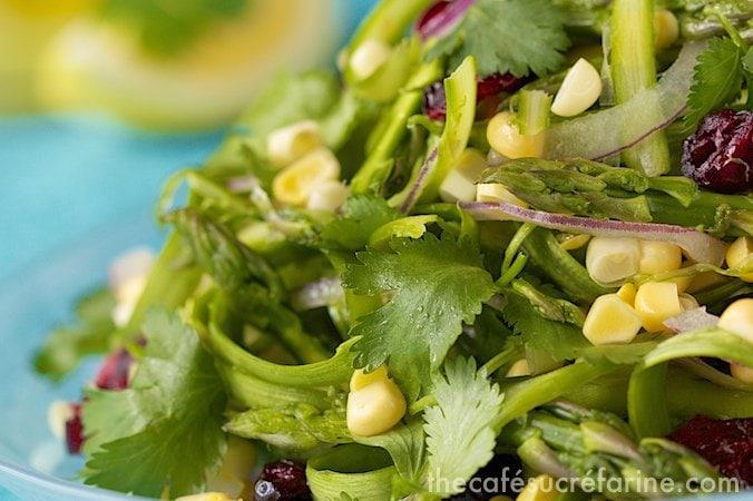 Asparagus & Sweet Corn Salad w- Fresh Lemon Dressing (3)