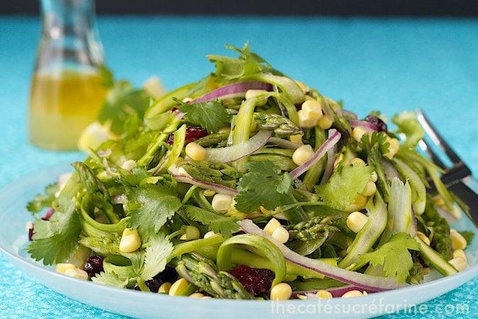 Asparagus & Sweet Corn Salad w- Fresh Lemon Dressing (4)