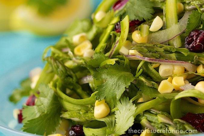 Asparagus & Sweet Corn Salad w- Fresh Lemon Dressing