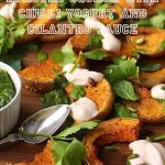Roasted Squash with Chili Yogurt and Cilantro Sauce