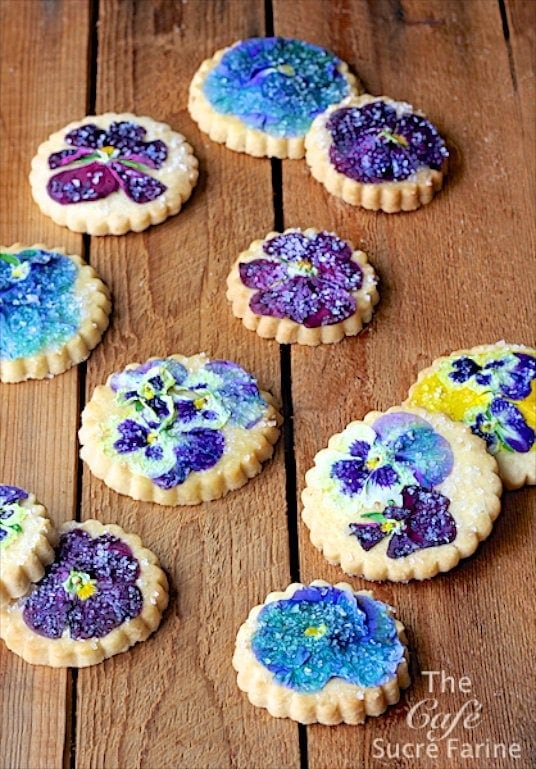 These Pansy Shortbread Cookies are just the showstopper for your next celebration, or just to welcome in spring. Did you know pansies are edible? Who knew!