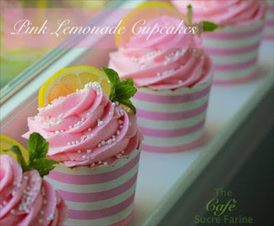 Pink Lemonade Cupcakes - capture summer in a cupcake paper. These are so fun and so delicious!