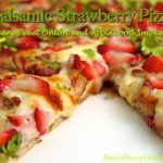 Balsamic Strawberry Pizza