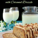 Banana Pecan Bread with Caramel Drizzle