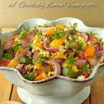 Grill-Roasted Summer Veggie & Farro Salad w/ Garlicky Lemon Vinaigrette