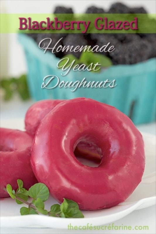 Blackberry Glazed Homemade Donuts - The flavor is out of this world! You have to try these - amazing!