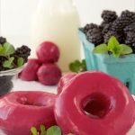Blackberry Glazed Homemade Donuts