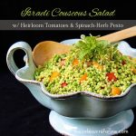 Israeli Couscous Salad with Heirloom Tomatoes