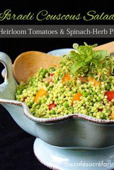 Israeli Couscous Salad with Heirloom Tomatoes