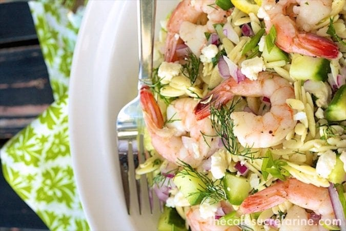 Roasted Shrimp with Orzo