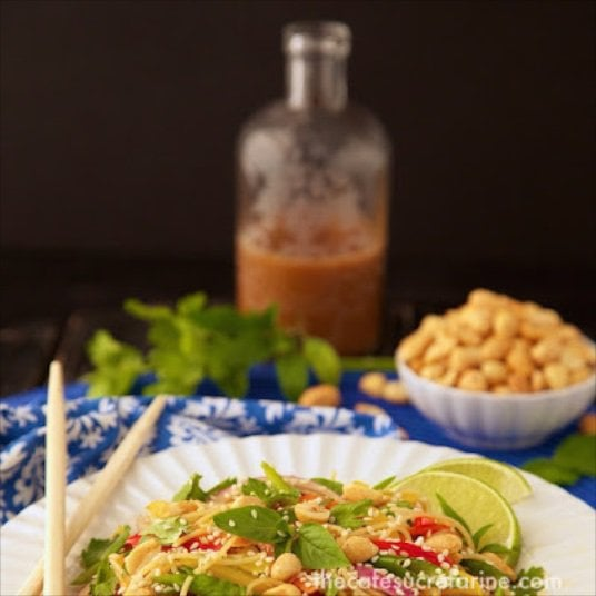 Thai Peanut Noodle Salad - This one has lots of vibrant Asian flavors exploding with each delicious bite. Super versatile, and super healthy!