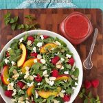 Raspberry Arugula Salad with Nectarines and Goat Cheese