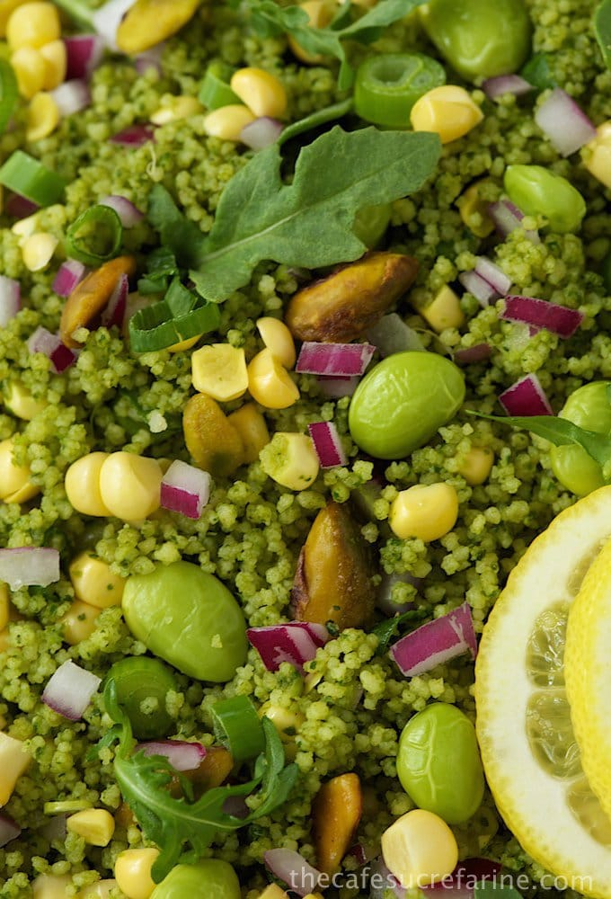 Green on Green Couscous Salad (3)