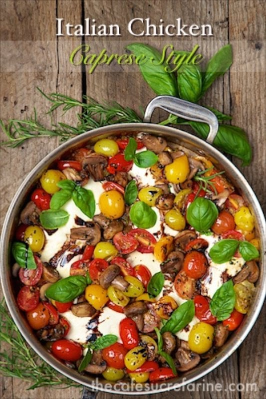 Italian Chicken Caprese - comes together in less than 30 minutes! It's so fresh and full of flavor!