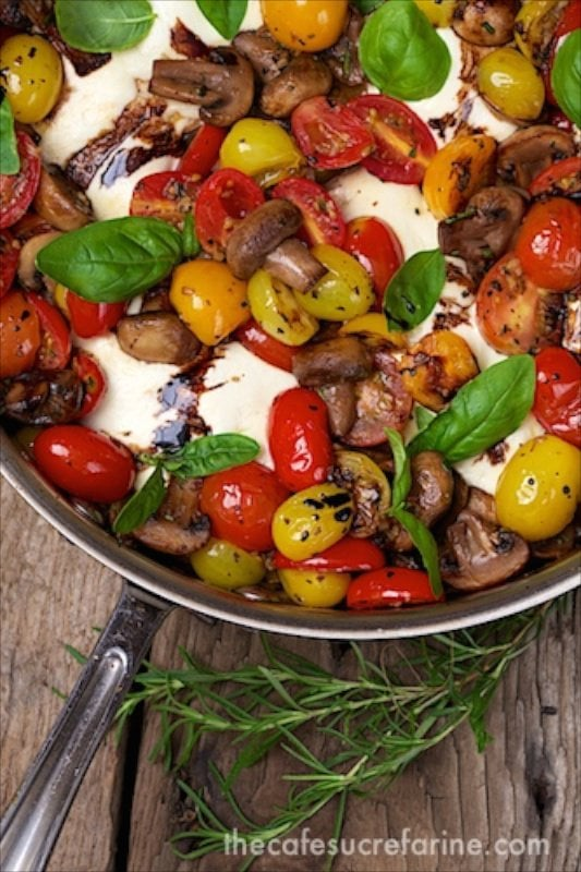 Italian Chicken Caprese - comes together in in under an hour! It's so fresh and full of flavor!