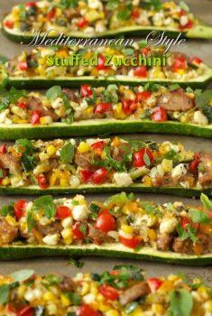 Mediterranean Style Stuffed Zucchini - thecafesucrefarine.com