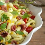 Pesto, Pepper and Sopressato Pasta Salad