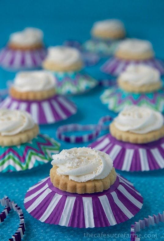 Vanilla Bean Shortbread Cookies - These cookies are simple to throw together and melt-in-your-mouth delicious - the perfect way to celebrate any special occasion.