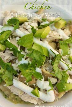 Chicken Chilaquiles Verde - thecafesucrefarine.com