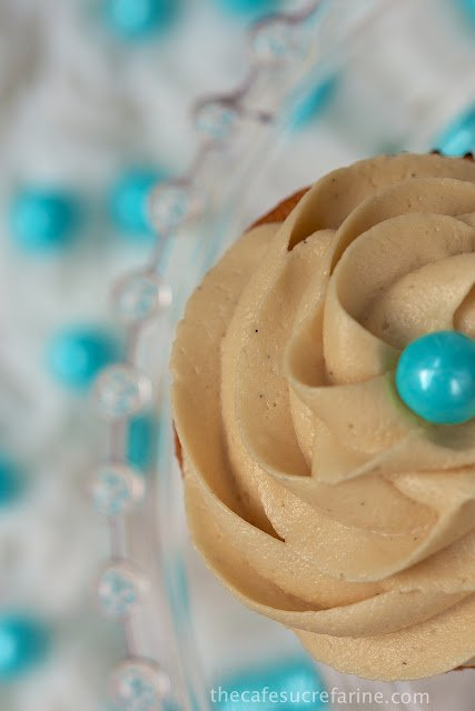 VanillaBean Cupcakes with Caramel Icing -  our favorite cupcakes, EVER! Tender yellow crumb, moist and super easy! The icing is to-die-for!