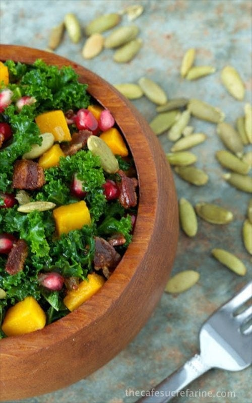 Massaged Kale and Butternut Squash Salad