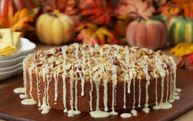 Pumpkin Coffee Cake w/ Pecan-Pepita Crumble - oh, it's not in the title but there's a maple drizzle too. Amazing!!
