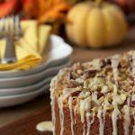 Pumpkin Coffee Cake w/ Pecan-Pepita Crumble